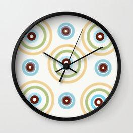 Large Whimsical Circles Parade Wall Clock