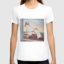 Antonio García at the Beach - Joaquín Sorolla T-shirt