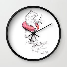 Summer Bear Wall Clock