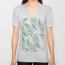 Green Leaves Unisex V-Neck
