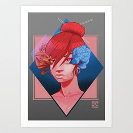 Flowers and Chopsticks Art Print