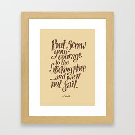 If we should fail? Framed Art Print
