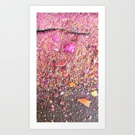 Chalk Dust Confetti Pinkish Art Print