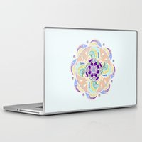 buddhism Laptop & iPad Skins featuring Daisy Lotus Meditation by DebS Digs Photo Art