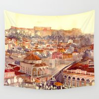 takmaj Wall Tapestries featuring Athens by takmaj