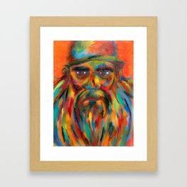 Keep Portland Beardy Framed Art Print