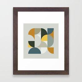 Mid Century Geometric 13 Framed Art Print