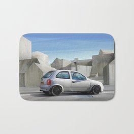 Is that concrete all around or is it in my head? Bath Mat