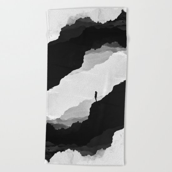 White Isolation Beach Towel