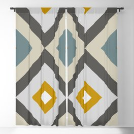Mid West Geometric 04 Blackout Curtain