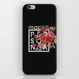 Map Of The Soul:Persona ver1 (Black) iPhone Skin