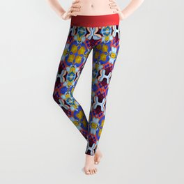 Woman with Sunflower - Lilac Leggings