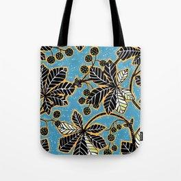 Chestnut Leaves Tote Bag