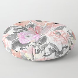Elegant simple watercolor floral Floor Pillow