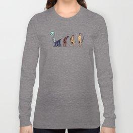 Alien Monkey Evolution Long Sleeve T-shirt