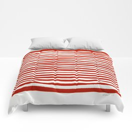 Waterline Pattern in Red Comforters