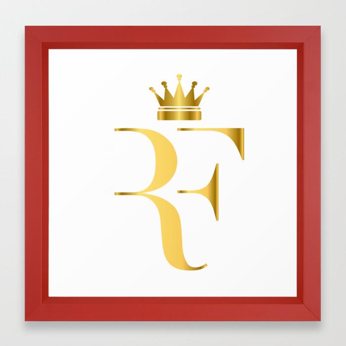 Roger Federer The King Of Tennis Framed Art Print By Artsfan