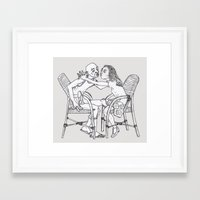 couple Framed Art Prints featuring couple by Madmi