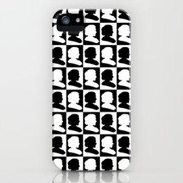 Marie Curie Scientist Silhouette Pop Art iPhone Case