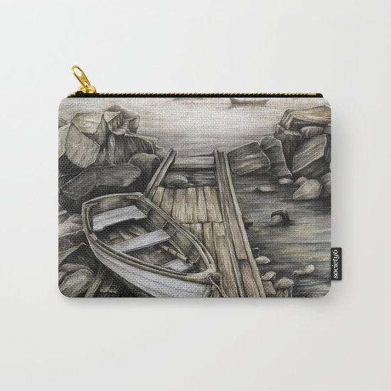 Old Boat on the Dock Carry-All Pouch