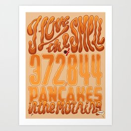 I Love The Smell Art Print
