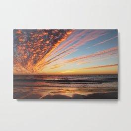 Sunset on the beach. Metal Print