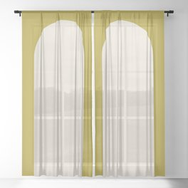 Minimal Arch - Vibrant Green Sheer Curtain