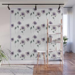 Hellebore . The floral pattern . Wall Mural