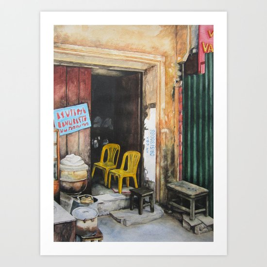 The Two Yellow Chairs Art Print
