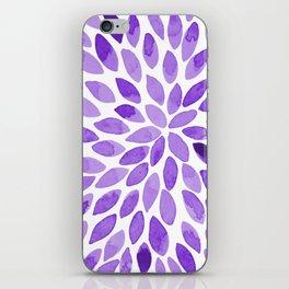 Watercolor brush strokes - ultra violet iPhone Skin