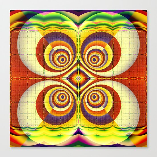 Colourful circles and other patterns Canvas Print