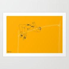 Fosbury jump Art Print