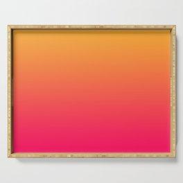 Hot Pink / Golden Heart Gradient Colors Serving Tray