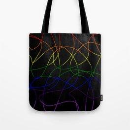 Abstract Threads – LGBTQ Pride Flag Tote Bag