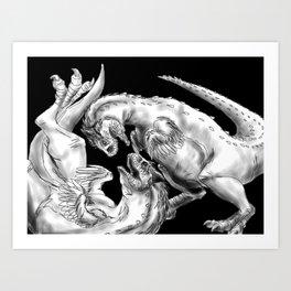 Playful Carnotaurus--Paleoart Art Print