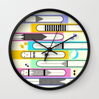 suits Wall Clocks featuring swim suits  by filipa nos campos