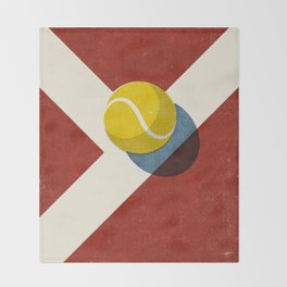BALLS / Tennis (Clay Court) Throw Blanket