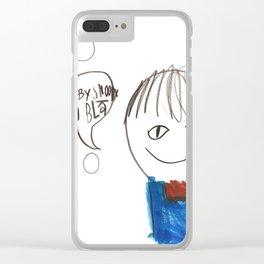 Blah Blah Clear iPhone Case