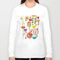 bees Long Sleeve T-shirts featuring WHERE THE BEES FLY by Chicca Besso
