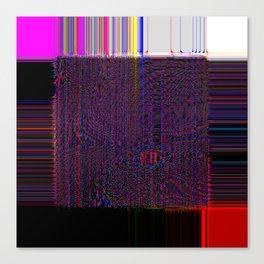 Loom - Experimental Glitch Tapestry Canvas Print