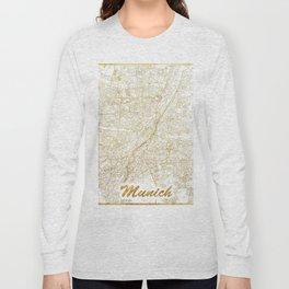 Munich Map Gold Long Sleeve T-shirt