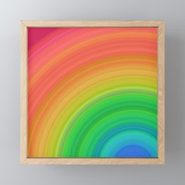 Bright Rainbow | Abstract gradient pattern Framed Mini Art Print