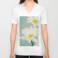daisy V-neck T-shirts featuring DAISY  by Laura Ruth