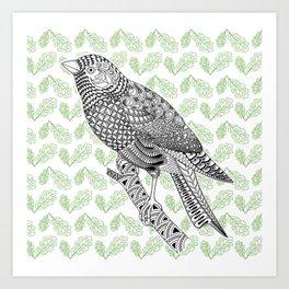 Doodle Bird Art Print
