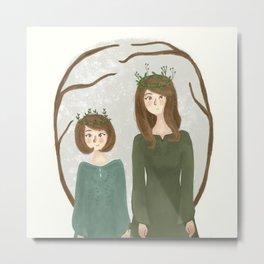 Queen Susan and Queen Lucy Metal Print
