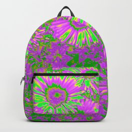 Amazing glowing Flowers A Backpack