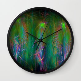 Fractal Angels III Wall Clock