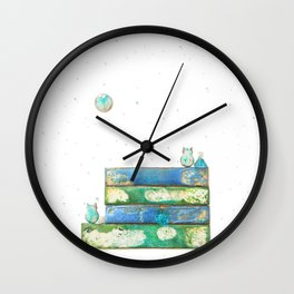 Alley Cats and the Blue Moon Wall Clock