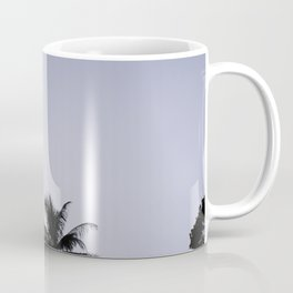 Tropical palm trees in sunset blue Coffee Mug