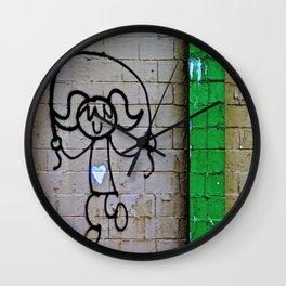 Jump Rope Street Art Wall Clock